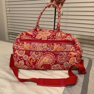 Vera Bradley Raspberry Fizz Weekender Duffel Bag